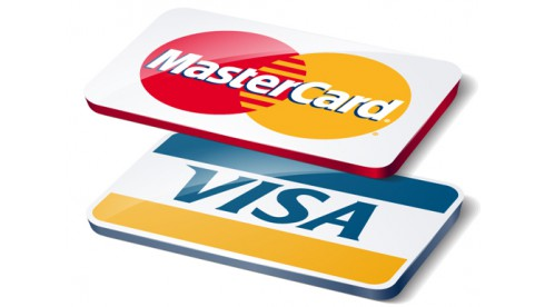 The ability to pay online with VISA and Mastercard